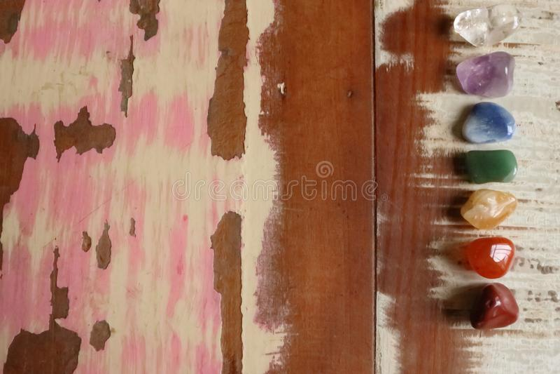 Te helen Chakrasstenen royalty-vrije stock foto