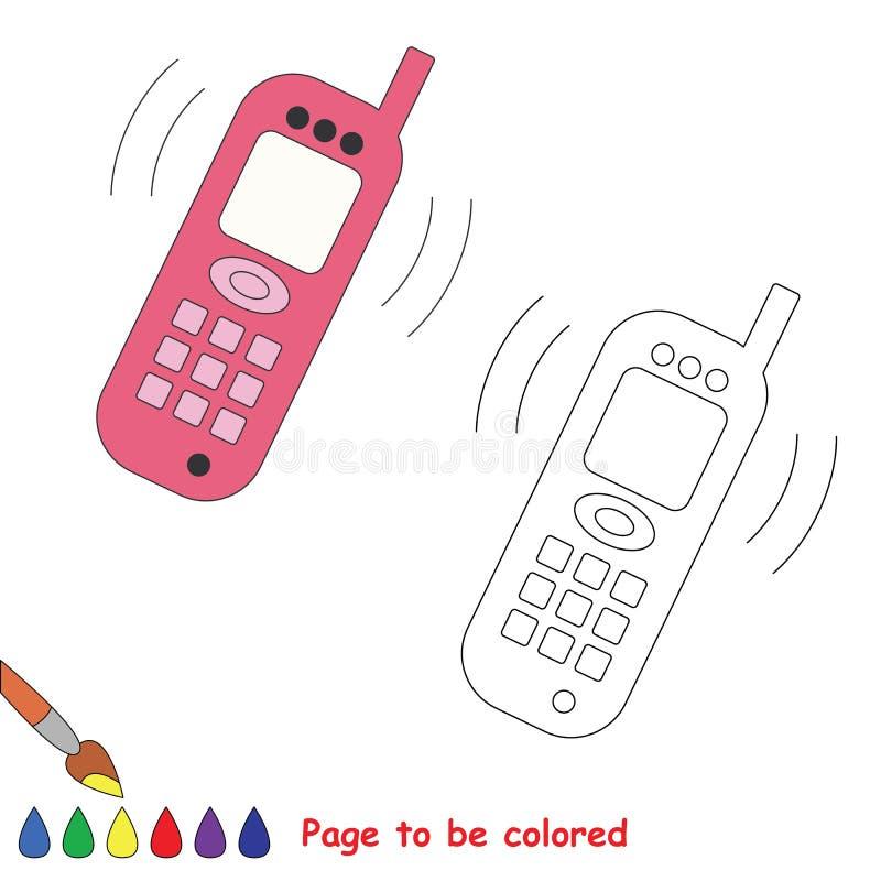 Te kleuren telefoon vectorbeeldverhaal royalty-vrije illustratie