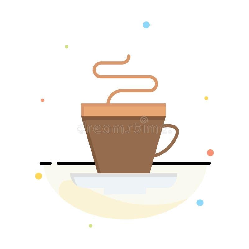 Te kopp, kaffe, indisk abstrakt plan färgsymbolsmall vektor illustrationer