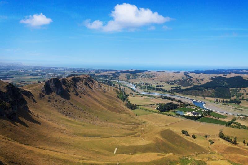 Te Mata Peak, bahía de Hawkes, Nueva Zelanda foto de archivo