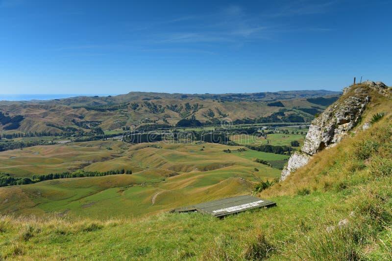 Te Mata Peak e paesaggio circostante in Hastings, Nuova Zelanda fotografia stock libera da diritti