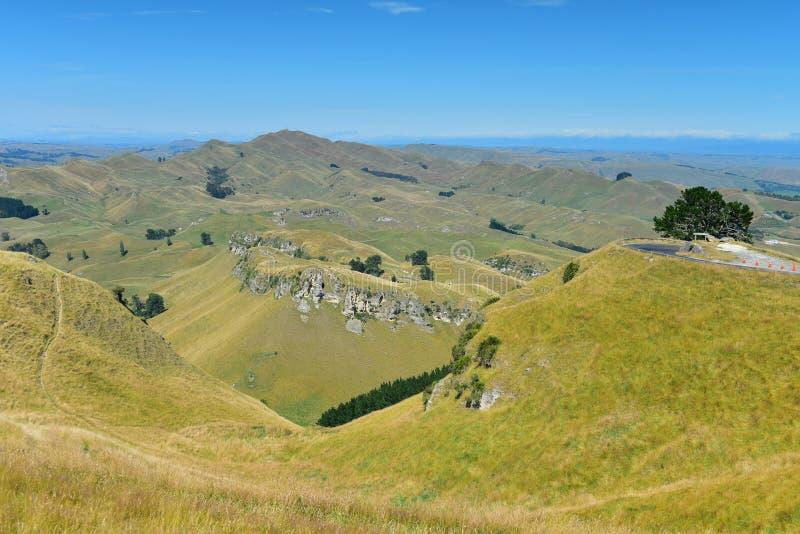 Te Mata Peak e paisagem circunvizinha em Hastings, Nova Zel?ndia fotografia de stock royalty free