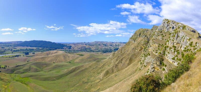 Te Mata Peak en Nueva Zelanda fotografía de archivo