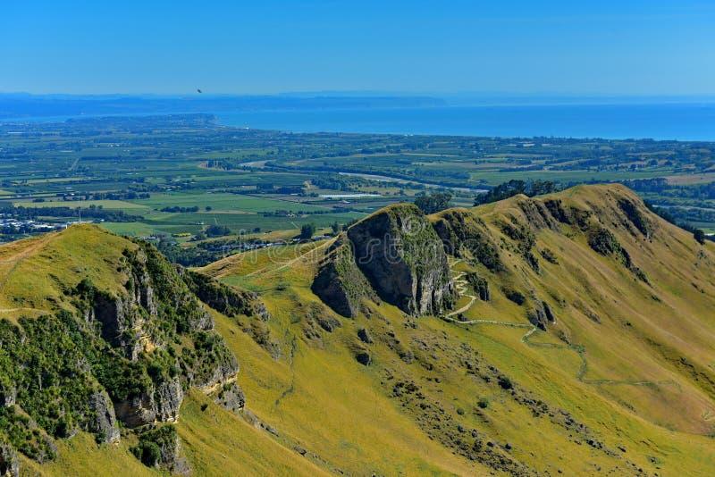 Te Mata Peak en omringend landschap in Hastings, Nieuw Zeeland royalty-vrije stock fotografie