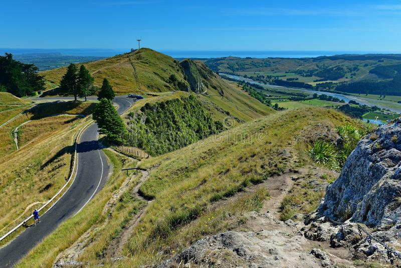 Te Mata Peak och omgeende landskap i Hastings, Nya Zeeland arkivfoto