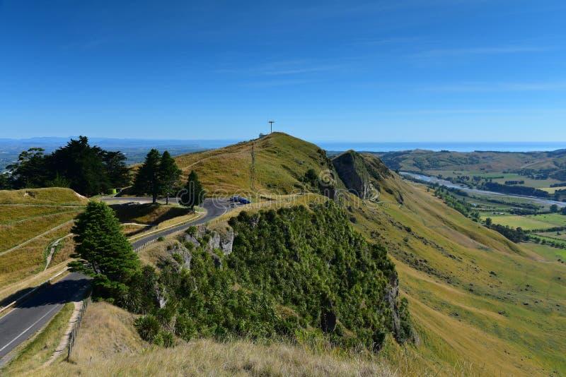 Te Mata Peak och omgeende landskap i Hastings, Nya Zeeland royaltyfri fotografi