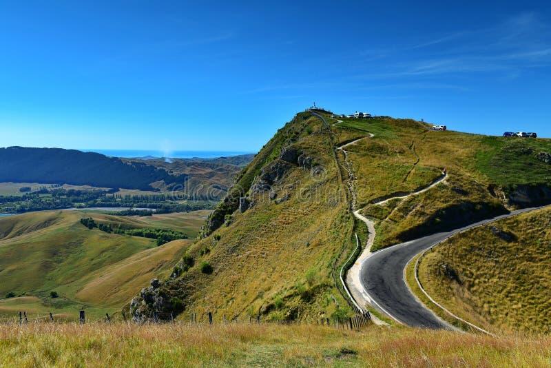 Te Mata Peak och omgeende landskap i Hastings, Nya Zeeland arkivbild