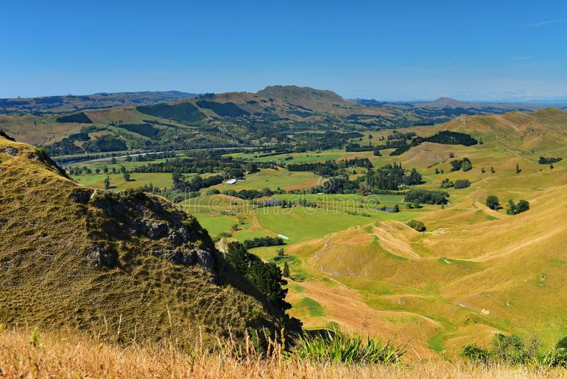 Te Mata Peak och omgeende landskap i Hastings, Nya Zeeland royaltyfri foto