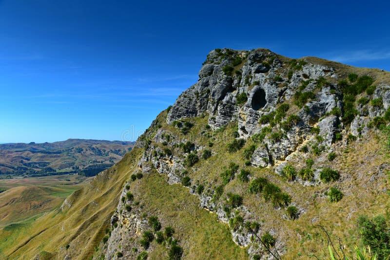 Te Mata Peak und umgebende Landschaft in Hastings, Neuseeland stockfotografie