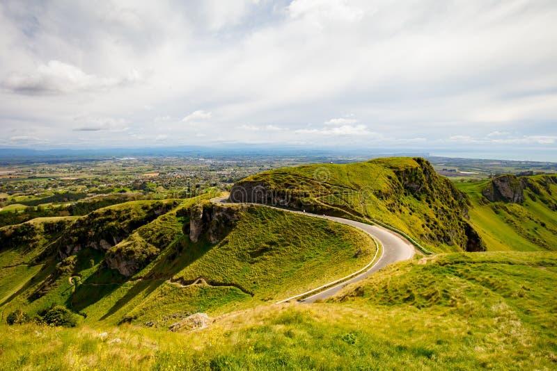 Te Mata Peak View New Zealand imagen de archivo