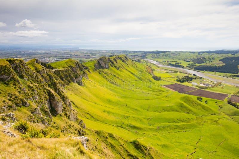 Te Mata Peak View New Zealand fotos de archivo libres de regalías