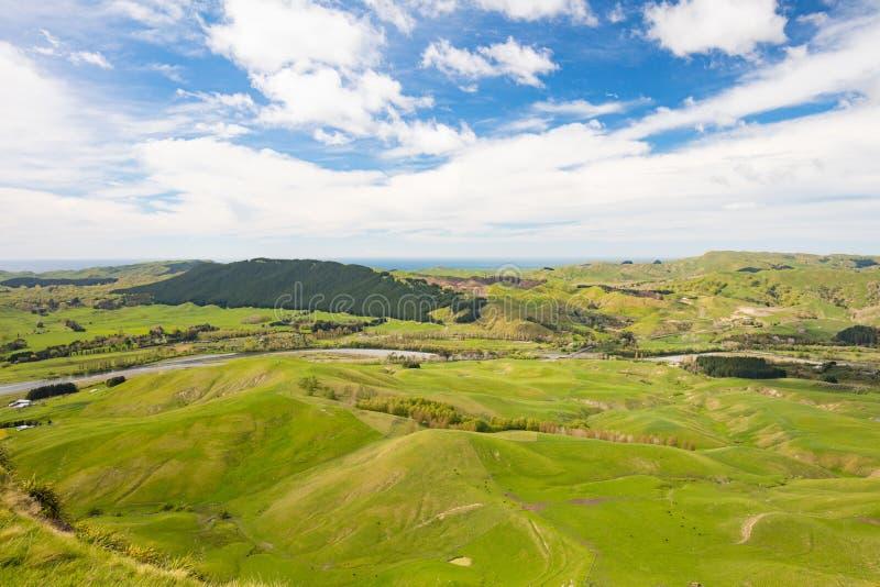 Te Mata Peak View New Zealand fotografía de archivo