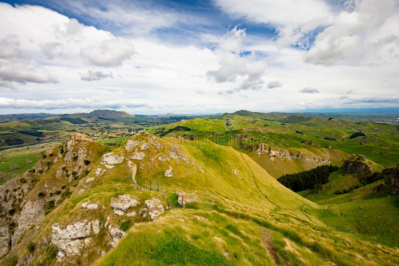 Te Mata Peak View New Zealand foto de archivo libre de regalías