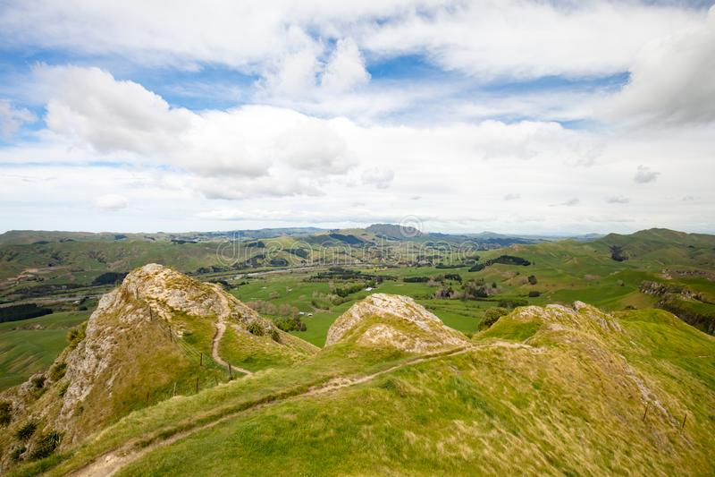 Te Mata Peak View New Zealand imágenes de archivo libres de regalías