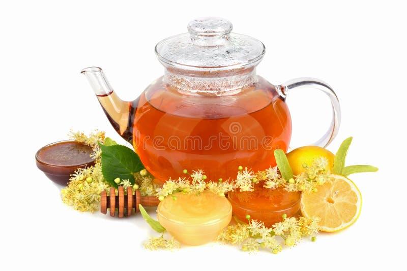 Te med honung royaltyfria foton