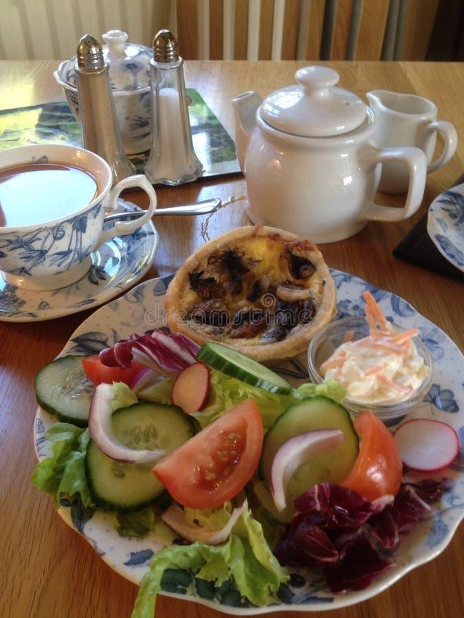 Te och lunch royaltyfria bilder