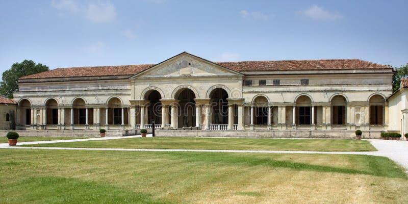 te palazzo Италии mantova фасада внутреннее стоковое изображение rf