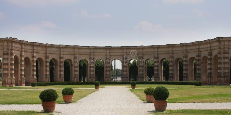 te palazzo Италии mantova esedra стоковое изображение rf