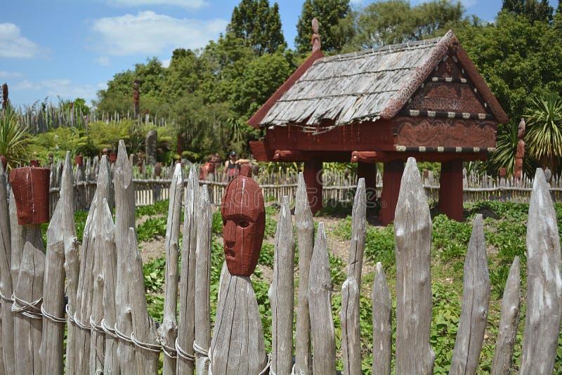 Te Parapara Maori Garden Quelque part en Nouvelle Zélande photographie stock libre de droits