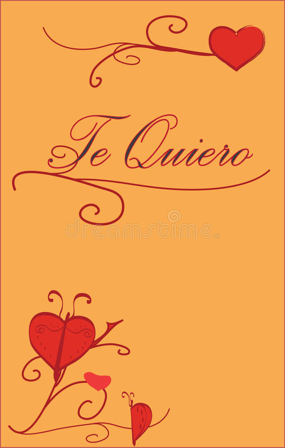 Download Te Quiero stock vector. Image of drawn, aime, decoration - 28531775