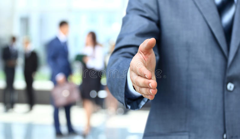 Te schudden hand royalty-vrije stock foto