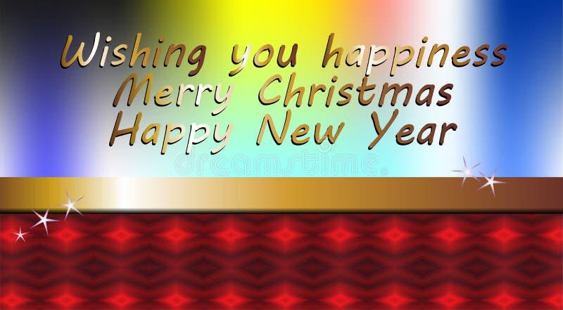 Te souhaitant le bonheur, image de Noël illustration stock