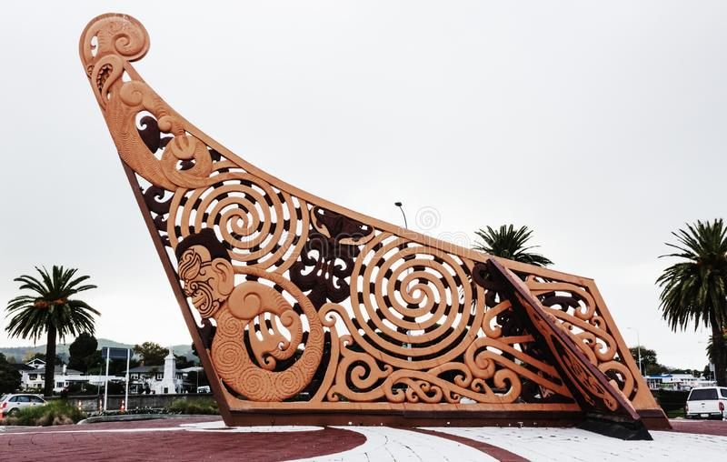 Te Tauihu Turanga Whakamana στοκ φωτογραφία