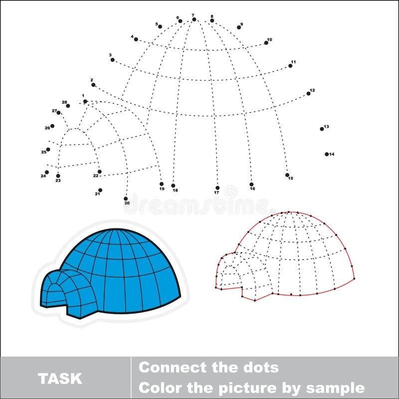 Te vinden iglo Vectoraantallenspel royalty-vrije illustratie