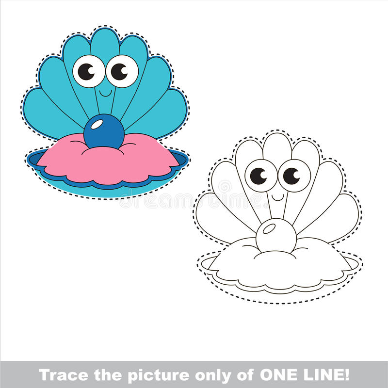 Te vinden pagina, jong geitje één lijn die onderwijsspel vinden vector illustratie