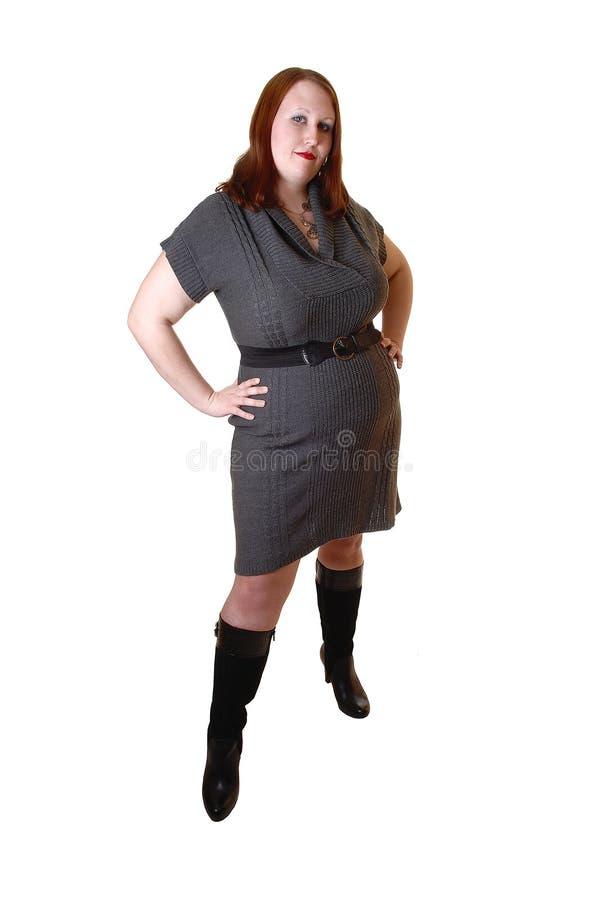 Te zware vrouw. stock fotografie