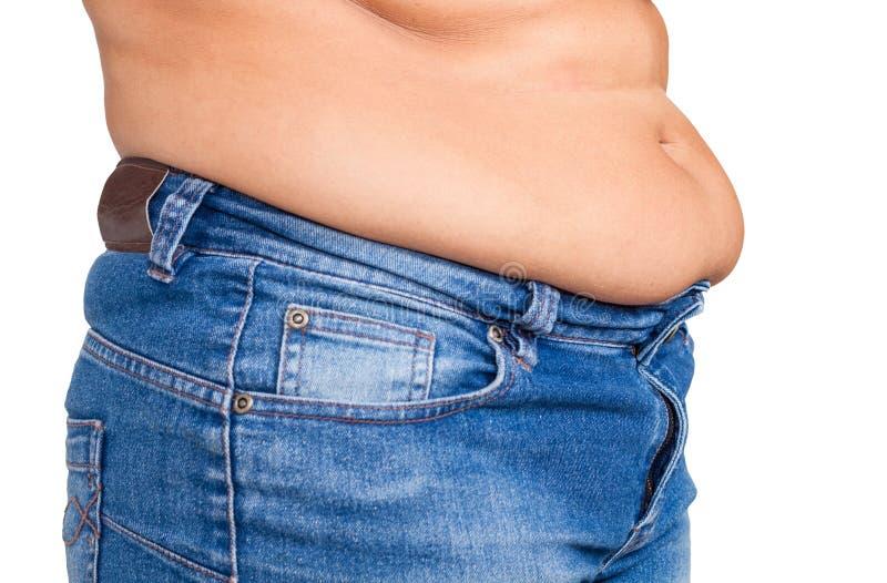 Te zware vrouw die gekleed dragend jeans worden royalty-vrije stock afbeeldingen