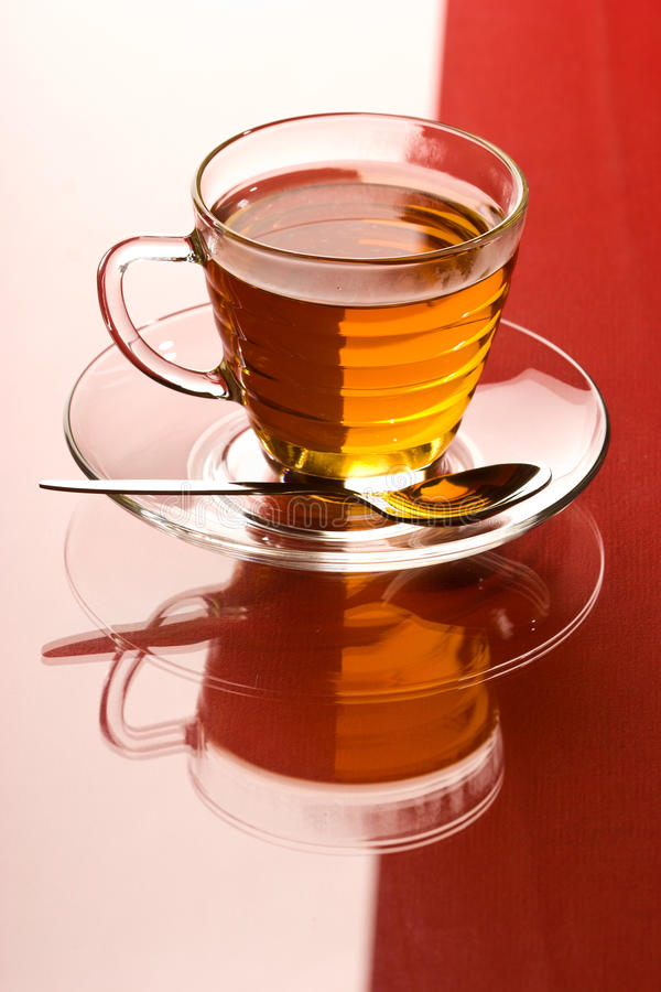 Download Tea stock image. Image of reflection, glass, teacup, spoon - 22215037