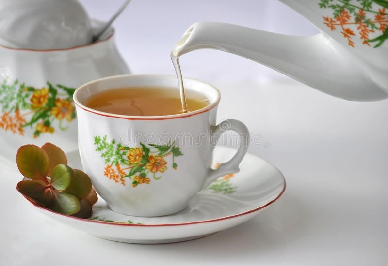 Tea. It is a pic of a cup of morning tea stock photography