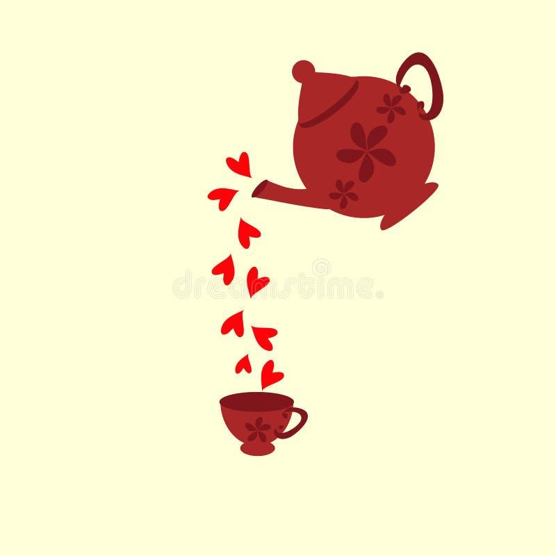 Download Tea stock illustration. Image of morning, cream, decoration - 24477469