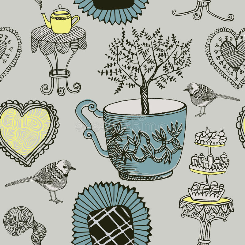 Free Tea And Birds. Stock Photo - 29275550