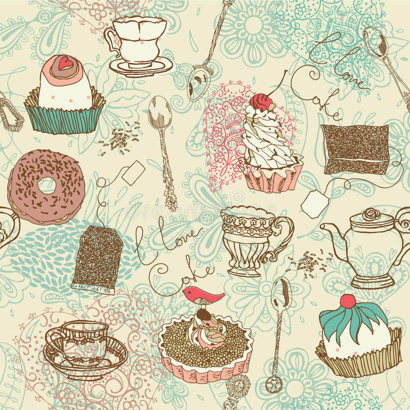 Free Tea And Cake Background Royalty Free Stock Photo - 18553015