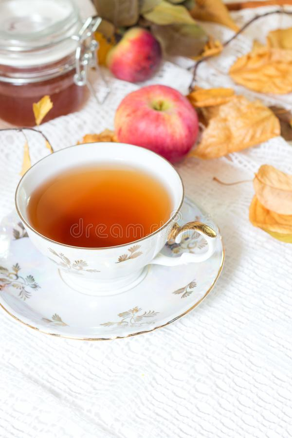 Tea of apple, apple and honey. stock photography