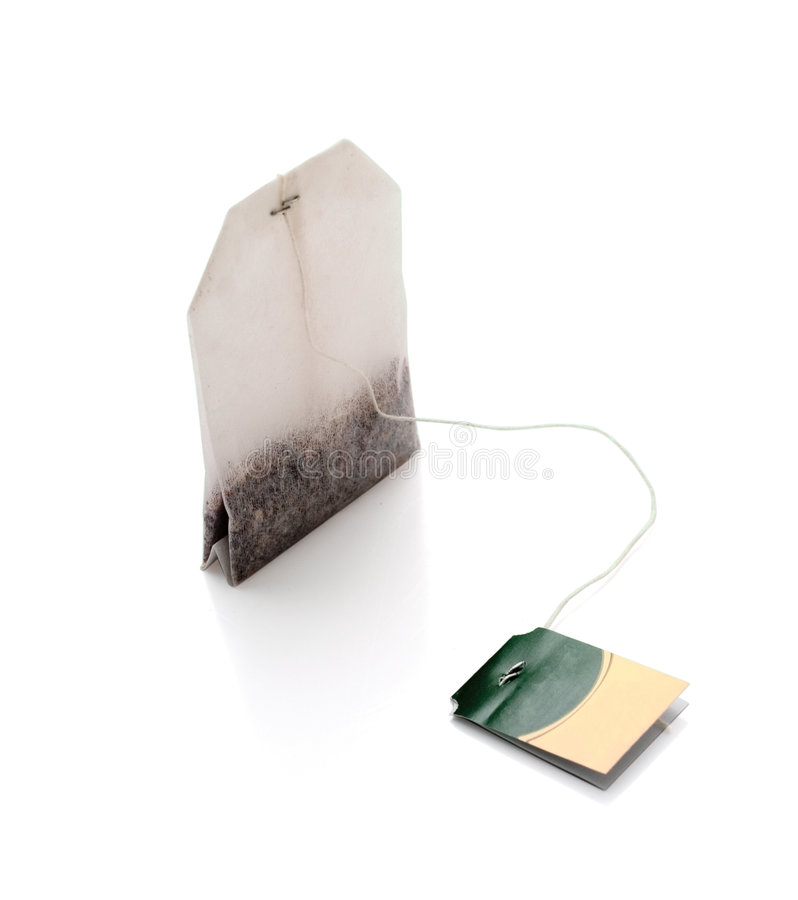 Tea bag isolated. With clipping path. Studio light royalty free stock image