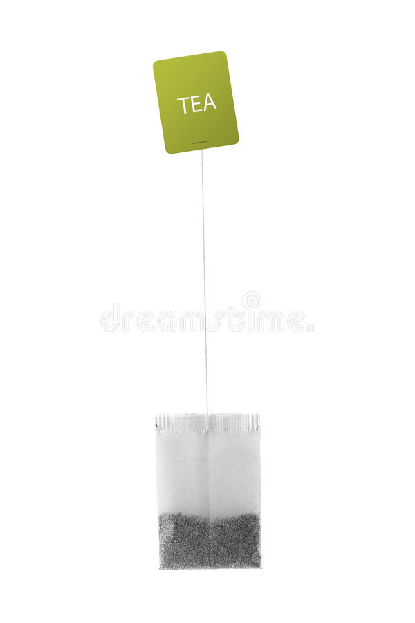 Tea bag isolated on white. Background stock photos