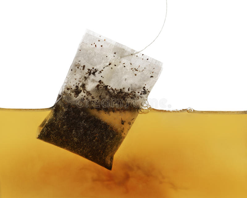 Tea Bag In Water stock photo