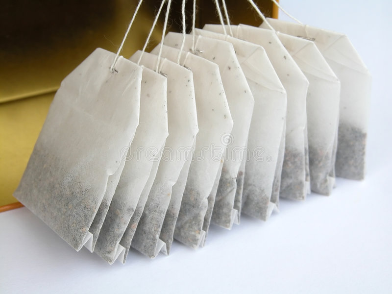 Tea-bags imagem de stock royalty free