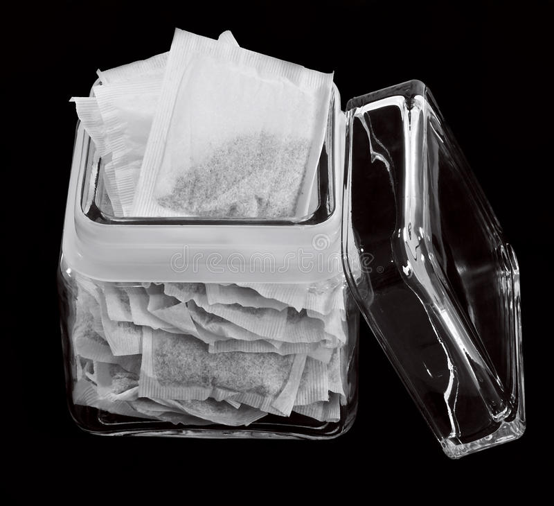 Download Jar of tea bags stock photo. Image of herbal, earlgray - 25769500