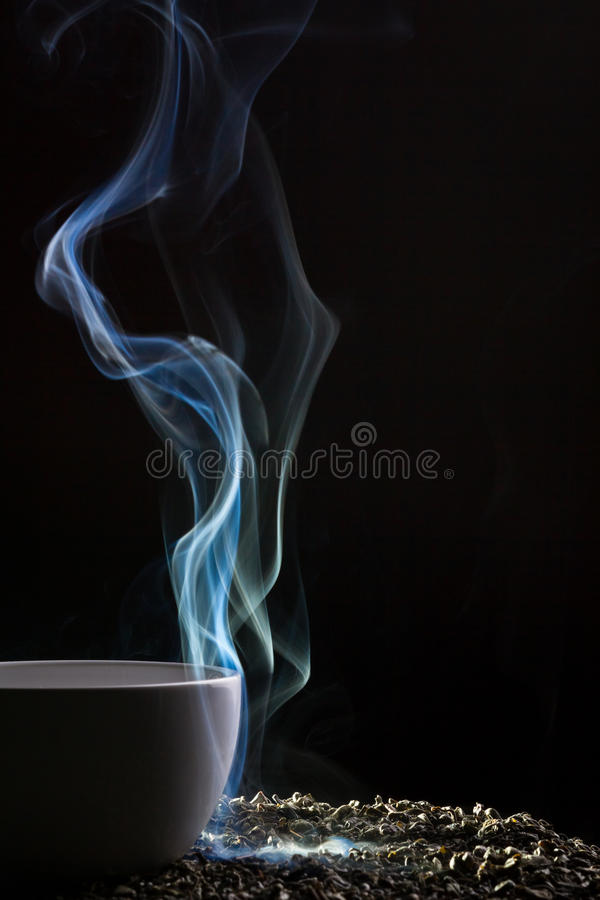 Download Tea and blue smoke stock photo. Image of smoke, beverage - 21589888