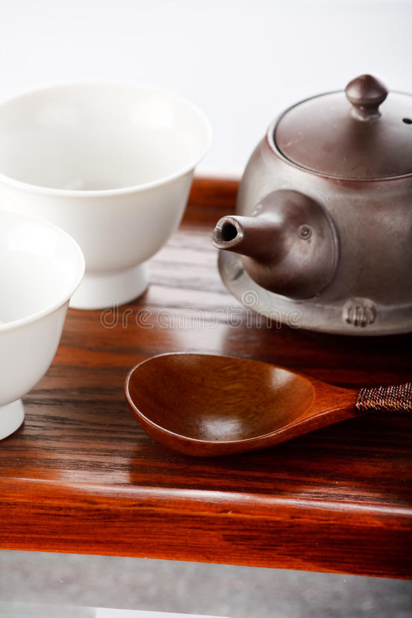Download Tea bowls with teapot stock photo. Image of healthcare - 12755520