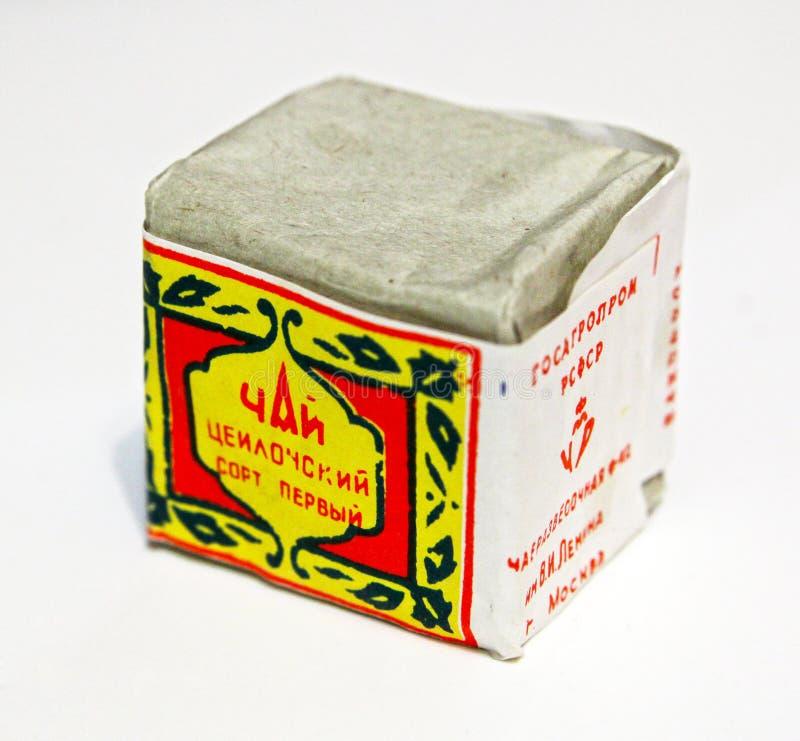 Tea box stock photo