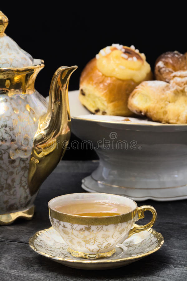 Download Tea Break With Cupcakes On Cake Stand Stock Photo - Image: 25357436