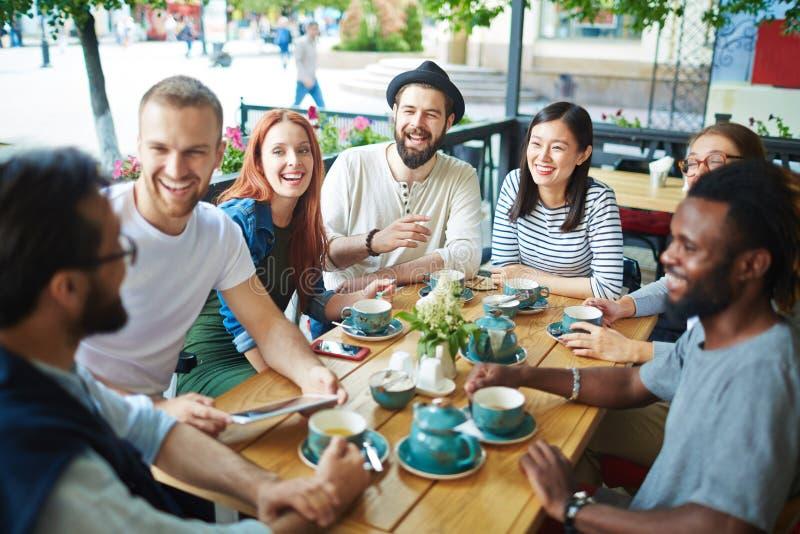 Tea in cafe royalty free stock photos