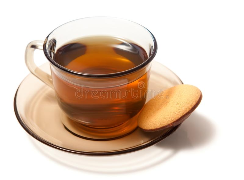 Tea with cake royalty free stock image
