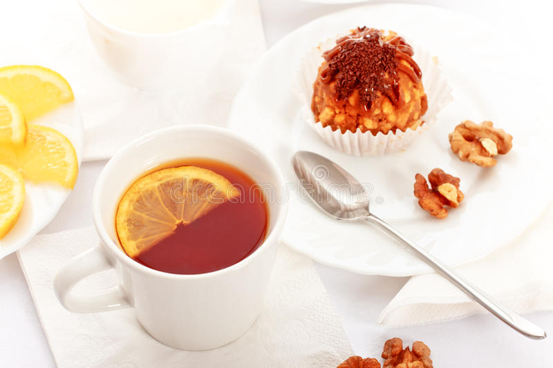 Download Tea With Cakes stock photo. Image of brown, breakfast - 20928012