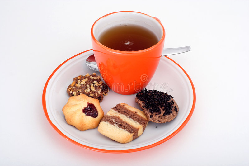 Tea With Cakes Stock Photography